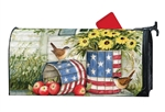 Patriotic Planters Large MailWraps Magnetic Mailbox Cover