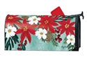 Poinsettia Bloom Large MailWraps Mailbox Cover