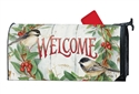 Chickadee Wreath Large MailWraps Mailbox Cover