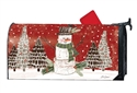 Woodsy Snowman Large MailWraps Mailbox Cover