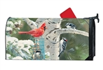 Winter Birds Large MailWraps Mailbox Cover