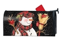 Snowman With Broom Large MailWraps Mailbox Cover