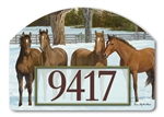 Winter Horse Yard DeSigns Magnetic Art