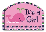 Whales - It's a Girl MailWraps Yard DeSigns Magnetic Sign