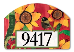 Peace Sunflower Yard DeSigns Magnetic Art