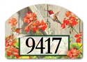 Hummingbirds with Geraniums Yard DeSigns Magnetic Art