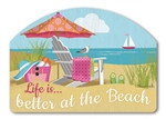 Better at the Beach Yard DeSigns Magnetic Art