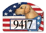 Patriotic Pup Yard DeSigns Magnetic Art
