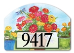 Marigolds and Zinnias Yard DeSigns Magnetic Art