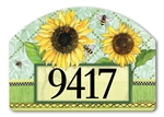 Single Sunflower Yard DeSigns Magnetic Art