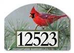 Winter Red Bird Yard DeSigns Magnetic Art