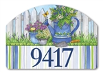 Painted Watering Can Yard DeSigns Magnetic Art