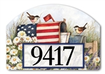 Patriotic Mailbox Yard DeSigns Magnetic Art