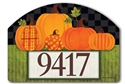 Patterned Pumpkins Yard DeSigns Magnetic Art