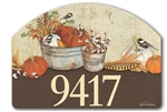 Farmhouse Pumpkins Yard DeSigns Magnetic Art