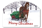 Horse Drawn Sled Yard DeSigns Magnetic Art
