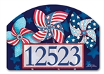 Patriotic Pinwheels Yard DeSigns Magnetic Art