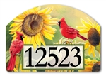 Sunflower Cardinal Yard DeSigns Magnetic Art