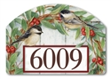 Chickadee Wreath Yard DeSigns Magnetic Art