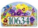 Pansy Blooms Yard DeSigns Magnetic Art