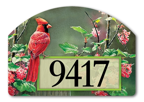 Cardinal Beauty Yard DeSigns Magnetic Art
