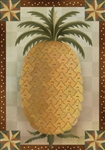 Primitive Pineapple Garden Flag