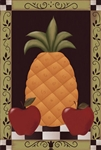 Colonial Pineapple Garden Flag