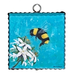 Gallery Mini Honey Bee on Orange Blossom
