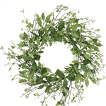 Mixed Green Foliage & Berry Wreath