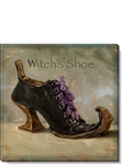 "Darren Gygi Witches Shoe Canvas Art (5"" x 5"")"