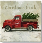 "Darren Gygi Christmas Truck Canvas Art (9"" x 9"")"