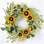 "Sunflower Berry Wreath (24"")"