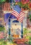 Patriotic Home House Flag