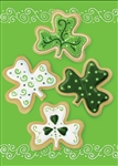 Shamrock Cookies Decorative House Flag