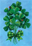 Shamrock Bouquet Decorative House Flag