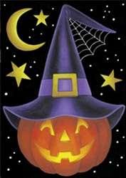 Witch Pumpkin House Flag