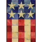 Stars and Stripes on Squares Standard House Flag