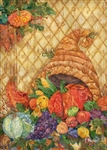 Boho Cornucopia Decorative Garden Flag