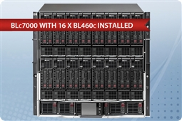 HP BLc7000 with 16 x BL460c Blades Basic SAS from Aventis Systems, Inc.