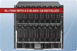 HP BLc7000 with 8 x BL460c G8 Blades Advanced SAS from Aventis Systems, Inc.