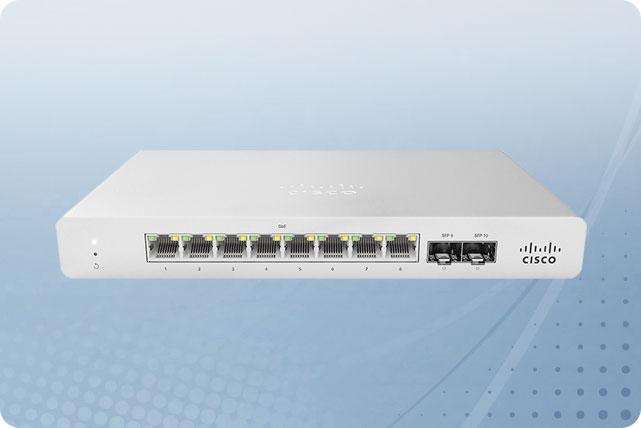Cisco Meraki MS120-8-HW Cloud Managed Layer 2 8 Port Gigabit Switch Bundled  with 1 Year Enterprise License