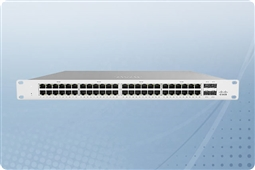 Cisco Meraki MS120-48LP-HW Cloud Managed Layer 2 48 Port Gigabit 370W PoE Switch Bundled with 1 Year Enterprise License from Aventis Systems