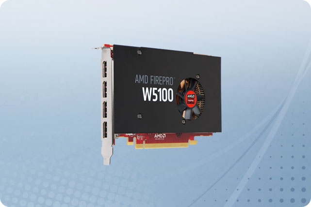 Half-length//Full-height OpenCL 1.2 100-505737 DirectX 12 AMD FirePro W5100 Graphic Card 930 MHz Core 4096 x 2160 DisplayPort Fan Cooler PCI Express 3.0 OpenGL 4.4 4 GB GDDR5 SDRAM