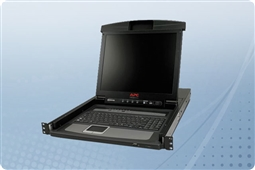 "APC AP5808 17"" Rack LCD Console with Integrated 8 Port Analog KVM Switch from Aventis Systems"