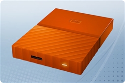 WD My Passport Orange 4TB Portable External Storage Drive from Aventis Systems