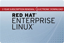 Red Hat Enterprise Linux for Virtual Datacenters Premium Subscription 3 Year (Renewal) Aventis Systems