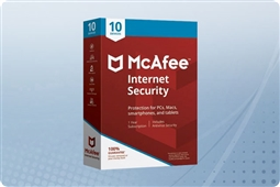 McAfee Internet Security 2018, 10 Device License from Aventis Systems, Inc.