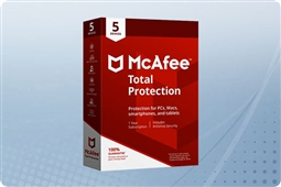 McAfee Total Protection 2018, 5 Device License from Aventis Systems, Inc.