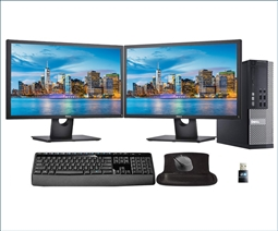 Dell Optiplex 9020 Desktop Bundle with 2 Monitors, Keyboard, Mouse, and Mousepad from Aventis Systems