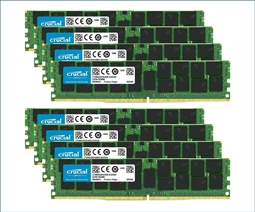 Crucial Memory Bundle with 256GB (8 x 32GB) DDR4 PC4-21300 2666MHz from Aventis Systems